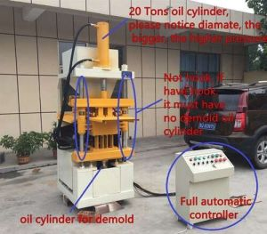 Qt1-10ハイドロフォーミングの自動連結の粘土のブロックの成形機ガーナ