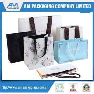 A medida Dongguan prendas de vestir de lujo Bolsas bolsa de papel de embalaje