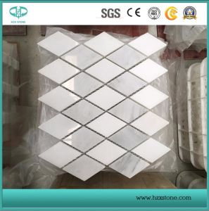 Blanc Bianco Carrara en marbre/mosaïque/revêtement mural/PLANCHER/poli de la mosaïque / perfectionné / mosaïque antique