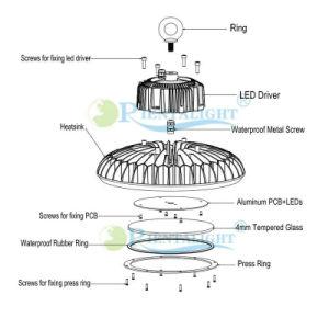 Para que la Corte de la estación de exposición de 200W de iluminación LED OVNI de la Bahía de alta