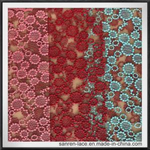 網の刺繍のレースのかわいい刺繍のレースファブリック