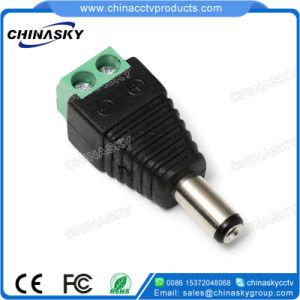 Conector Macho DC Plug com Borne Terminal, Cftv, 2,1 5,5 Milímetros (PC102)