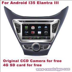Il Android di GPS per la carta di deviazione standard della macchina fotografica del CCD dell'automobile DVD DVR WiFi 3G della Hyundai Elantra III per migliore servizio di migliore qualità libera libera Shipping+Gift