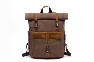Вощеная из натуральной кожи для использования вне помещений спортивных Vintage Canvas рюкзак сумка (RSF-8828)