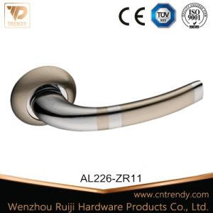 로즈에 유형 좋은 품질 알루미늄 문 레버 손잡이를 접히십시오