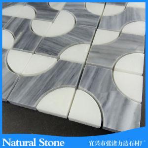 ホテルの装飾のための自然なWaterjet大理石のモザイクそしてモザイク・タイル