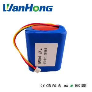 7.4V 6600mAh 18650 Li-ion Battery for LED