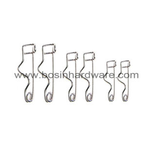 Locking Metal Safety Pin for Badge Base Jewelry Brooch