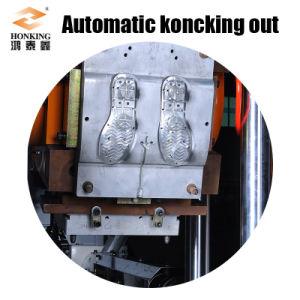 4つの端末PVC靴底の注入機械