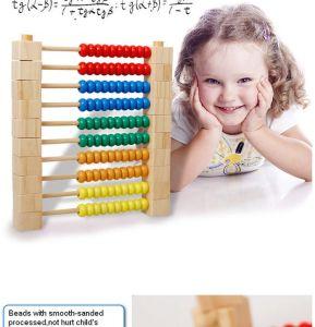 Desenvolvimento inteligente de bricolage Matemática Cordão de madeira labirinto de brinquedos educativos escolares
