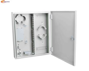Металлический корпус FTTH 72 ядер металлический настенный монтаж оптоволоконных распределительной коробки