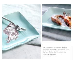 Insieme mediterraneo del piatto/ciotola/tazza/pranzo del lato di stile di estate