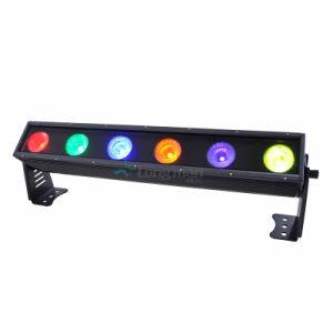 150W Rgbawuc 6en1 Tira de luz LED multicolor de fiesta