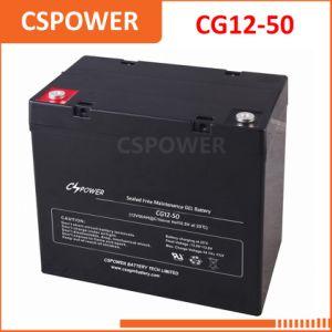 12V50ah глубокую цикла Гелиевый аккумулятор для внесетевых уличного освещения Cg12-50