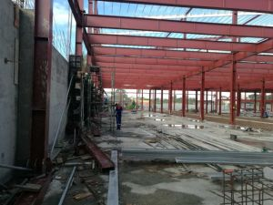 Estructura de acero de la luz de la moderna fábrica de taller de Edificio en venta