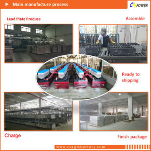 製造者の電気通信FL12-100ahのための細い砲列の正面のターミナルゲル電池