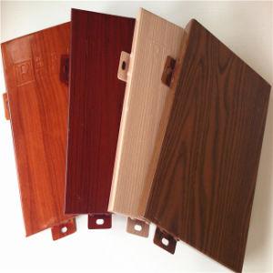Le bois -comme panneau de revêtement en aluminium pour la Décoration de mur rideau