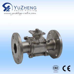 Válvula de bola de tres vías de 1/4 con material de acero inoxidable