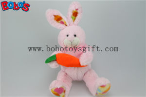 Raccord en caoutchouc orange Bos1158 d'avoirs animaux pourprés de lapin bourré par jouet de lapin de peluche de Pâques