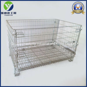 Hc3 Boa Venda Depósito de malha metálica gaiolas de armazenamento do fio dobrável