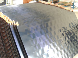 La placa plana de división de alta presión colector solar del absorbedor azul