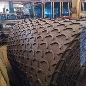 Шеврон с ременной передачей Cleated резиновый ремень модели транспортной ленты