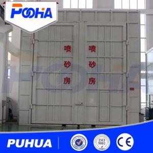 Пескоструйная обработка Dustless Puhua машины в соответствии с песком бризантных зал для продажи