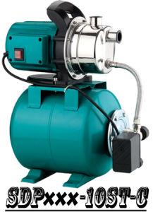 (SDP800-10ST-C) Jardin Self-Priming Jet pompe de gavage avec réservoir en acier