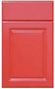 赤いカラーラッカーキャビネットドア