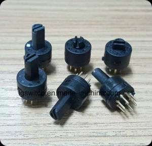 9mm PCBの台紙の小型ロータリースイッチ