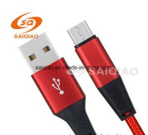 Samsungのための新しく赤いタイプC2.0編まれた充満データケーブル