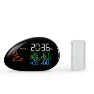 Estação meteorológica com umidade de temperatura inteligente o Relógio