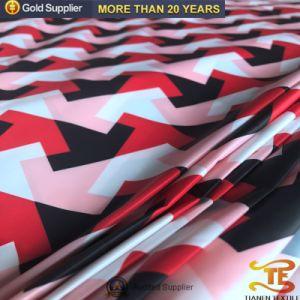 중국 의복 직물 아래로 인쇄하는 100%년 폴리에스테 디지털 재킷을%s 300t 호박단 직물을