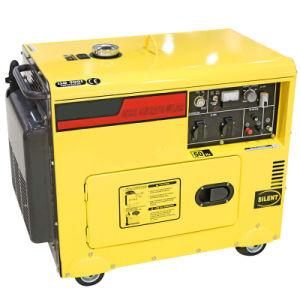 5kw 5.5kwの無声タイプ携帯用ディーゼル発電機