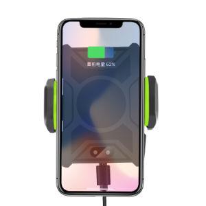 Nuevo sensor de infrarrojos de Qi rápido coche cargador inalámbrico para teléfonos móviles de Samsung