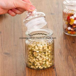 Nahrungsmittelspeicher-Glasglas mit Glaskappe