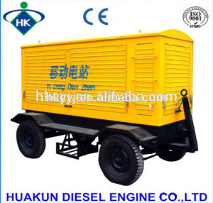 geluiddichte Mobiele Diesel 375kVA 300kw Generator