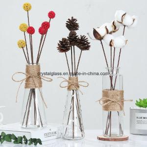 Vase en verre clair pour les fleurs séchées