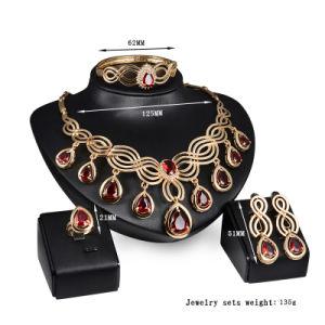 2018熱い販売の宝石類は方法宝石類と結婚している女性のためのネックレスおよびイヤリングセットをセットする