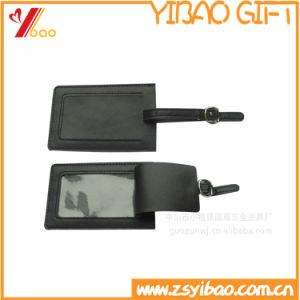 Botón de promoción personalizada de cuero colgando etiquetas de equipaje (YB-TY-83)