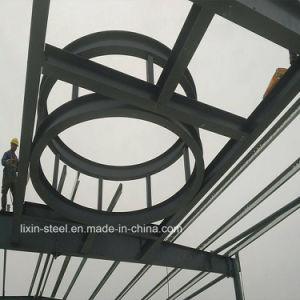 Moderner Entwurfs-Glasfertigbürohaus-Rahmen-Stahlkonstruktion