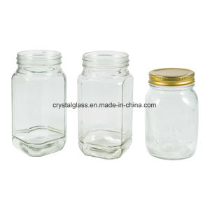 Recipiente de vidro de embalagem de mel de abelha Copo com tampa