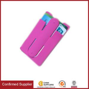 O titular do cartão de Silicone Unversal bolsos de telefone com suporte personalizado de marca OEM