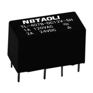 12VDC Tl 4078 마이크로 소형 낮은 힘 릴레이