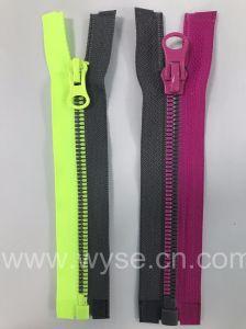 5# plastic Ritssluiting met de Gecombineerde Tanden van het Graan voor Lagen, Jasje