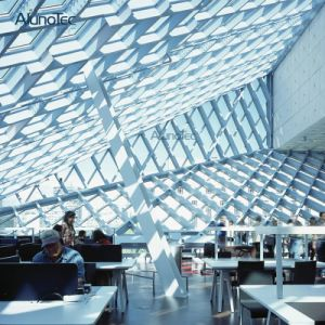 Personnaliser la sculpture CNC forme anormale de plafonds en aluminium pour l'intérieur