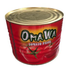 tomaten van de Tomatenpuree van het Merk 2200g Omawa de Italiaanse Ingeblikte
