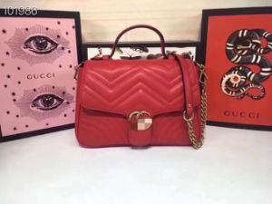 G-Ucci 디자이너 자수 광택 있는 숙녀 어깨 핸드백 특허 PU 핸드백 여자 운반물 핸드백