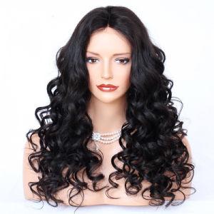 100 perruque de cheveux humains avec Bébé Sèche vague lâche Lace Front Perruques pré plumés Indian Remy