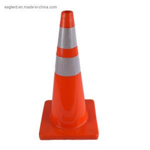 """28""""rojo de la altura de la seguridad vial flexibles de PVC suave Cono de tráfico"""